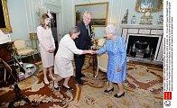Prezident Miloš Zeman se setkal s královnou Alžbětou v Buckinghamském paláci. Audience se zúčastnila