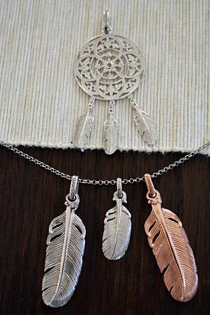 Indiánský lapač snů, rhodiované stříbro
