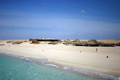Pláž v Hurghadě