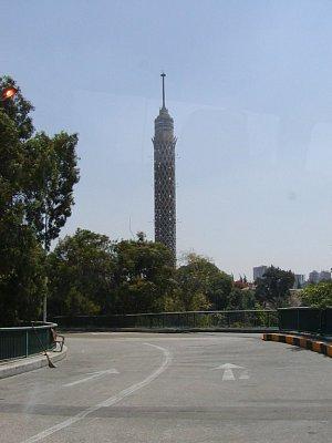 Výhlídková věž Cairo Tower - Vyhlídková věž na ostrově Gezira.