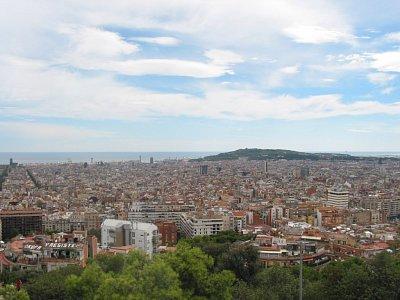 Pohled z vršku nad Parc Güell
