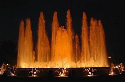 Magická fontána před Národním museem