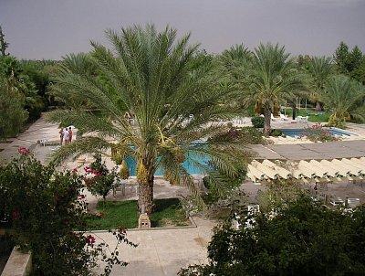 Areál hotelu Le Sahara Douz