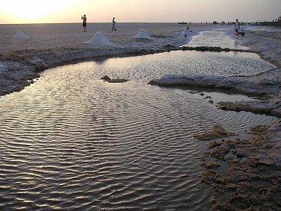Východ slunce nad Chott El Djerid