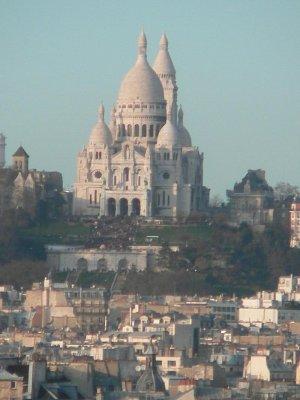 Pohled na Montmartre a Sarcé-Coeur z centre Georges Pompidou