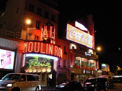 Moulin Rouge v noci