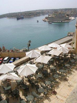 Kavárna ve Vallettě