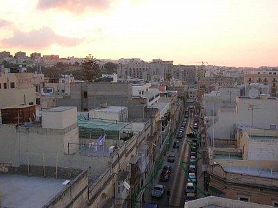 Ulice manuel Dimech street ve Sliemě