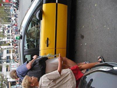 taxi - taxi v Barceloně patří mezi běžný dopravní prostředek (nahrál: Adam Svoboda)