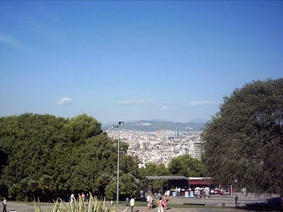 Montjuic-pohled na město
