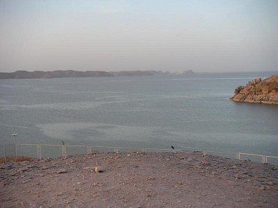 Násirovo jezero při pohledu od Abú Simbelu (nahrál: admin)