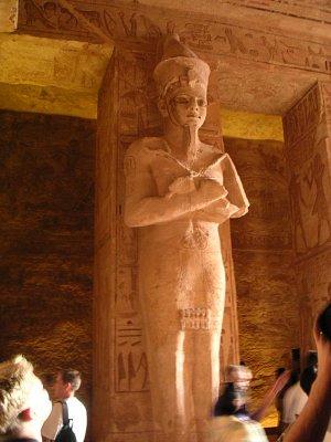 Detail sloupu v chrámu Ramesse II (nahrál: admin)