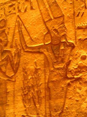 Chrám Ramesse II, reliéf s bohem plodnosti (nahrál: admin)