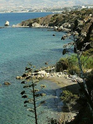 Afroditina plláž - nedaleko města Polis - poloostrov Akamas (nahrál: vsv)