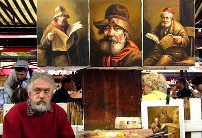 Montmartre - malíř - Evidentně autoportrét :) (nahrál: Zuzana Wurmová)