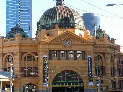 Průčelí hlavní budovy Flinders Station (nahrál: admin)