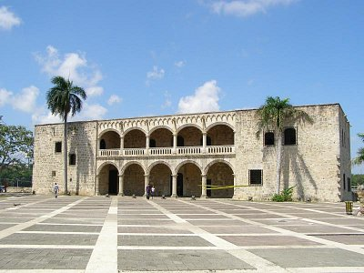 El Alcázar - Sídlo vicekráľa Španielska,Kolumbovho syna Diega,ktorý bol prvým úradným správcom Hispanioly. (nahrál: V.Revický)
