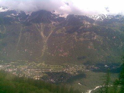 Okolí Mont-Blancku - Foto nic moc fotka je telefonem focena (nahrál: pepini)