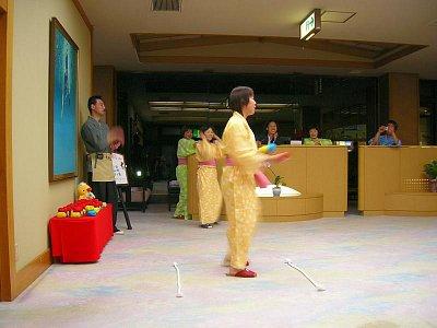 Ryokan - Nagano - aktivita v loby (nahrál: admin)