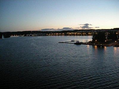 Jyvaskyla-pohled z mostu v vecer (nahrál: Ondra)