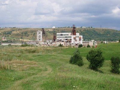 Solotvino - těžební areál (nahrál: Kamil Hainc)