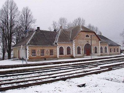 Jasiňa - železniční nádraží (nahrál: Kamil Hainc)