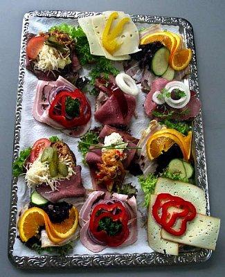 """The famous Danish \""""smørrebrød\"""" - In Denmark smørrebrød – literally 'buttered bread' in Danish – has provided lunch for the masses for hundreds of years.  (nahrál: Veronika)"""