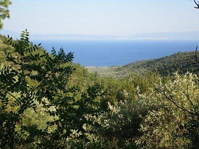 Pohled na Skala Sotiros z horské osady Sotiros - Červenec - srpen 2008 (nahrál: Dášulka)