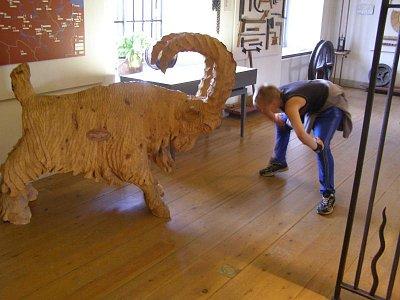 Muzeum Falun  - Kozel znak města, v muzeu lze koupit salám z kozího masa. No nic moc.... (nahrál: josef Vágner)