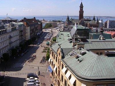 Helsinborg - Vzádu je vidět dánsko, pohled z pevnosti (nahrál: josef Vágner)