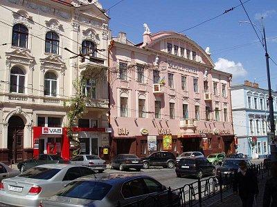 """hotel """"Kyjev"""" - ul. Holovna  (nahrál: Kamil Hainc)"""