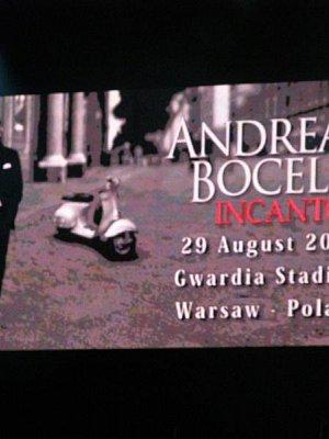 Andrea Bocelli - Varšava - srpen 2009