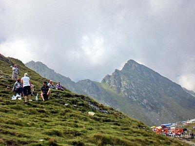 Fagaraš - nejvyšší hora Moldoveane 2543 m a Negoiu 2535m (nahrál: Blažena Čepelová)