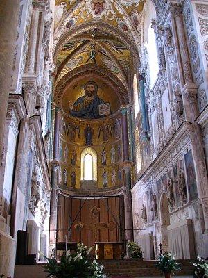 Cefalú - interiér katedrály (nahrál: Jiří Mastil)
