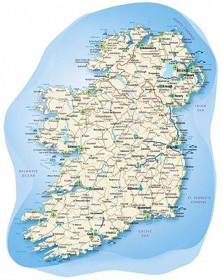 Irsko - mapa (nahrál: admin)