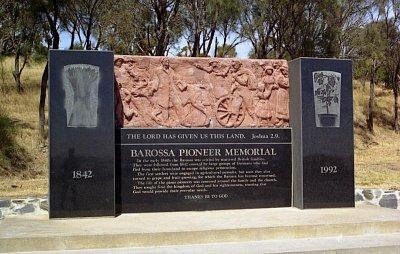 Mengler Hill - Památník prvním osadníkům Barossa Valley (nahrál: Luboš)