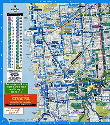 Mapa části Adelaide - Od Glenelgu po Kingston Park (nahrál: Luboš)