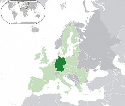 Německo - mapa - Německo - mapa Zdroj: wikipedia.org (nahrál: admin)