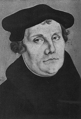 Martin Luther - Martin Luther na obraze od Lucase Cranacha. Zdroj: Wikipedia.org. (nahrál: admin)