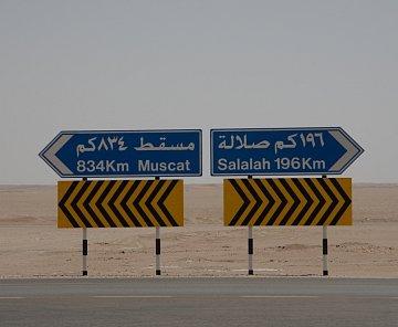 Větší okruh Ománem