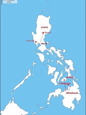 Filipíny - Mindanao, Camiguin, Bohol, Luzon 04/2015