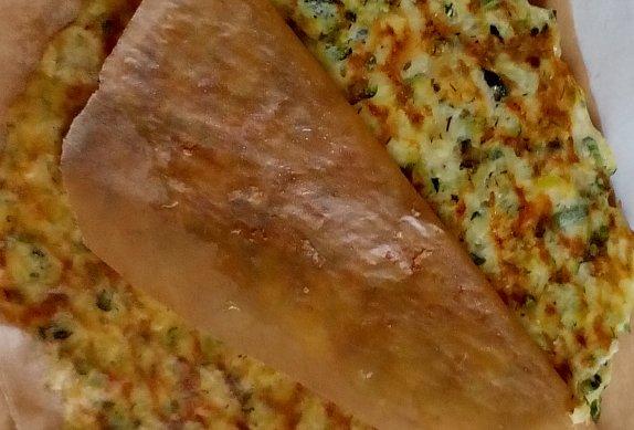 Cuketové tortilly (placky) se sýrem - bez mouky