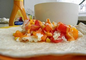 Tortilla s čerstvou zeleninou