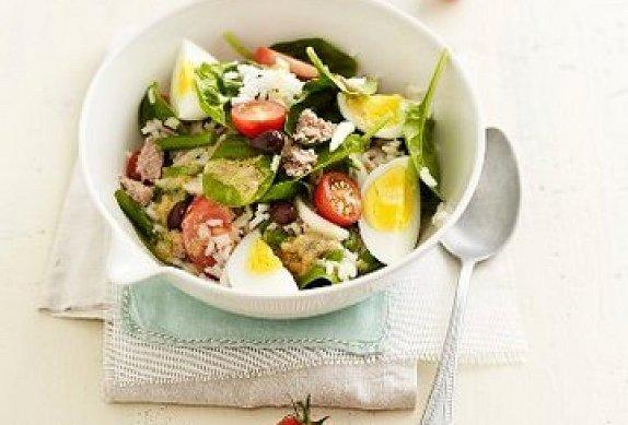 Salát Nicoise s rýží photo-0