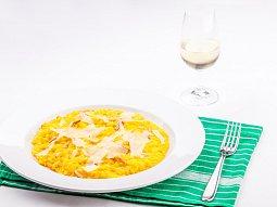 Risotto se šalvějí, piniemi a sýrem Grana Gran Moravia