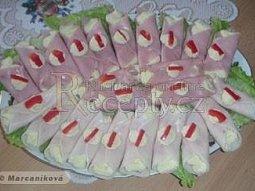 Šunkové závitky s vaječnou pěnou
