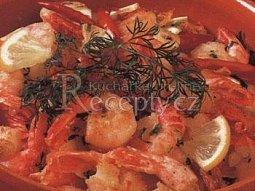 Krevety na česnekovém másle