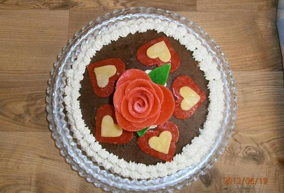 Vanilkovo-čokoládový dort