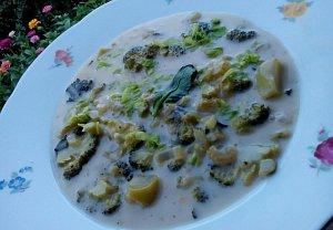 Brokolicová polévka s řapíkatým celerem a sýrem