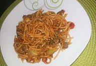 Fitness špagety s hovězím masem